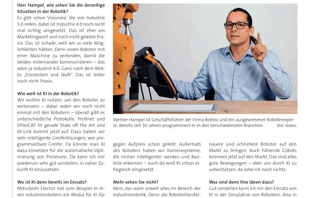 Werner Hampel über KI und Robotik in der KE Next